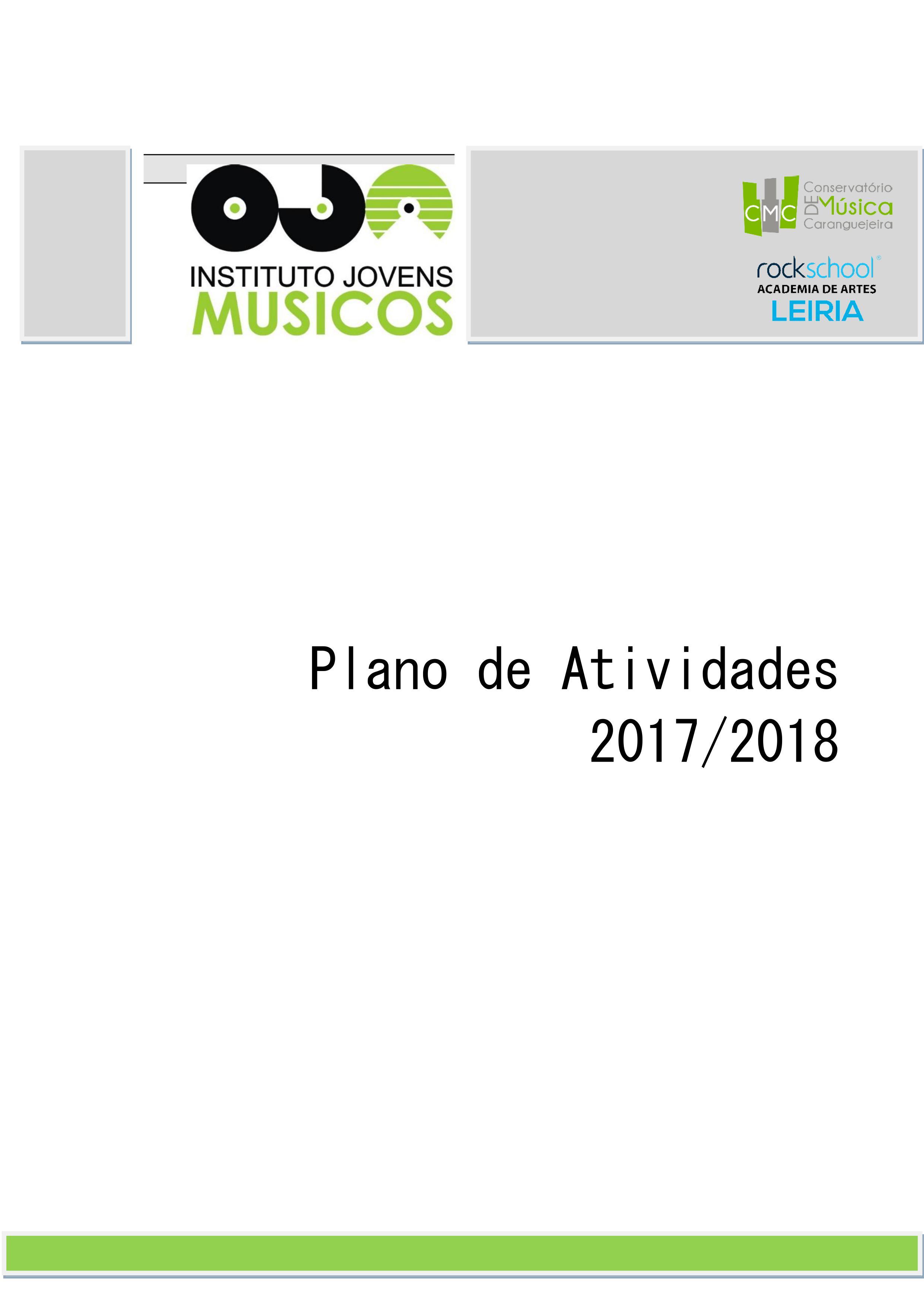 c61596b5fe PLANO DE ATIVIDADES 2017 2018